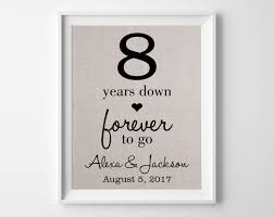 8th year anniversary gift 8 years forever to go 8th linen wedding anniversary 8 year
