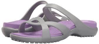 gray crocs crocs women u0027s meleen twist sandals silver silver iris