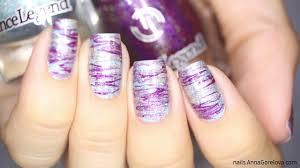holographic abstract nail art голографический абстрактный