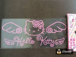 jual stiker mobil kitty angel tulisan indoaksesori tokopedia