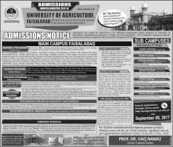 administration notice for of agriculture faisalabad