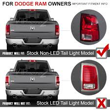 so cool 2009 2017 dodge ram 1500 2500 3500 smoke black led backup