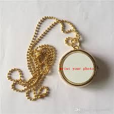 necklace pendant wholesale images Wholesale sublimation gold locket necklaces pendants locket high jpg