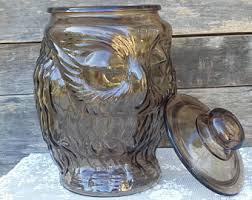 brown glass jar etsy