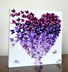 butterfly gifts purple ombre classic butterfly heart 3d butterfly wall