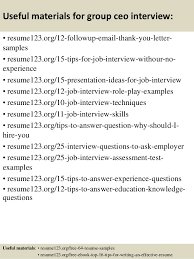 Ceo Resume Sample Top 8 Group Ceo Resume Samples
