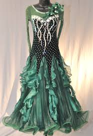 dark green velvet ballroom dress