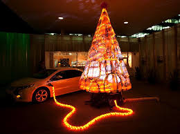 Christmas Tree Made Of Christmas Lights - gary card u0027s electric christmas tree is made from recycled chevy