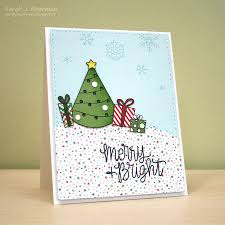 my impressions simon says stamp december card kit light up