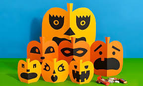 Childrens Halloween Craft Ideas - halloween kid craft paper pumpkins parents