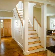 open staircase farmhouse with tread traditional floor lamps