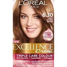 light golden brown hair color excellence creme 6 30 light golden brown hair color greatshop pk