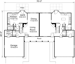 traditional two story duplex 57158ha architectural designs