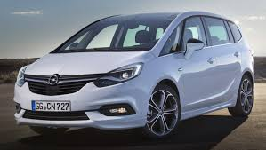 opel minivan opel vauxhall zafira facelift unveiled with new face