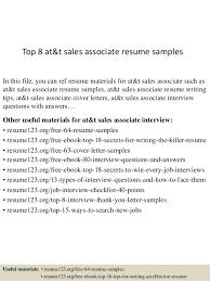 Work Experience Resume Sales Associate Att Sales Associate Resume