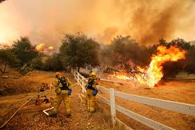 California Wildfires Valley Fire by Camarillo Ca Damp Ocean Air Aids Fight Against Wildfire