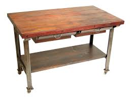 butcher block kitchen island table reclaimed wood top butcher block island with metal base for