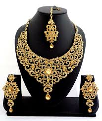 Buy Designer Gold Plated Golden Gold Plated Necklace Sets On Mirraw Com