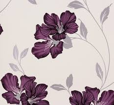 blumen lila tapete blumen lila silber tapeten livingwalls atlanta 94429 2 944292