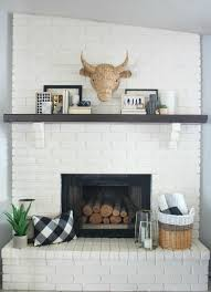 u0026 white mantel decor