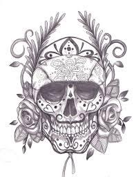 dia de los muertos skull with crown tattoo design photos