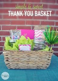 thank you gift baskets create a simple sweet thank you gift for teachers dog