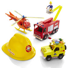 amazon fireman sam rescue playset u0026 sam figure u0026 helmet toys
