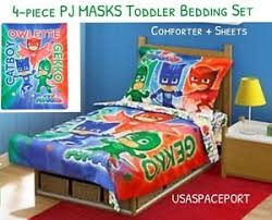 4 piece pj masks toddler bed comforter sheets boys girls