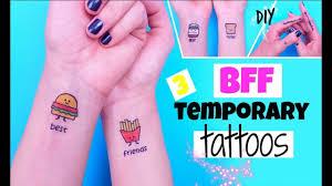 diy bff temporary tattoos diy tattoos at home youtube