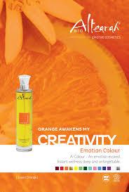 orange color cosmetic presentation creativity care aromatherapy
