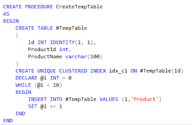 Create Temporary Table How To Cache Temp Tables In Sql Server Hasan Savran