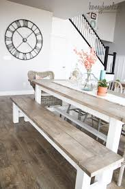 build a rustic dining room table diy farmhouse table and bench honeybear lane