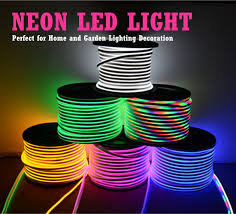 amazon com led neon light iekov ac 110 120v flexible rgb led