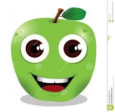 happy apple cartoon stock vector image 40671404