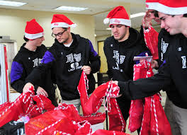 students stuff 375 stockings for salvation army high point