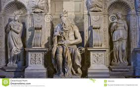 one of the amazing sculptures of michelangelo stock photography
