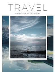 travel magazine images White minimalist travel magazine templates by canva jpg