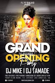 free grand opening party flyer template vol 1 free flyer