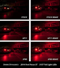 2013 ford focus brake light bulb ford focus st tail light leds plug play see installed comparison