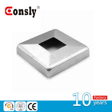 Handrail End Punching Square Stainless Steel Handrail End Cover