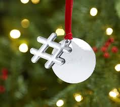 hashtag with personalizable tag ornament pottery barn