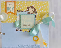 baby boy scrapbook album baby boy scrapbook etsy