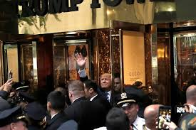 embattled candidate greets supporters outside trump tower nbc news