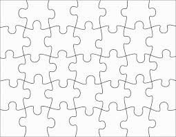 puzzle piece template clip art library