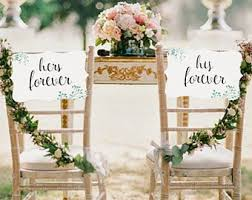 Bride And Groom Chair Signs Bride And Groom Sign Etsy