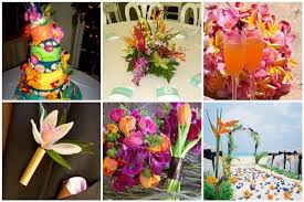 tropical themed wedding tbdress decor suggestions for tropical themed weddings