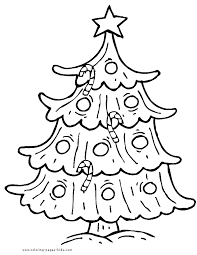 christmas tree color christmas coloring pages holiday