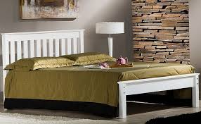 ivory white denver bed frame with low footend 5ft kingsize