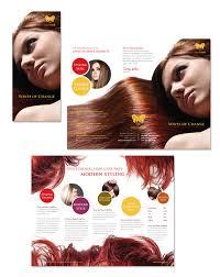 hair stylist u0026 salon tri fold brochure template