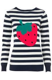 strawberry sweater swans strawberries honey kennedy